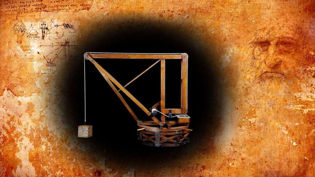 Léonard de Vinci : la grue à plateforme annulaire