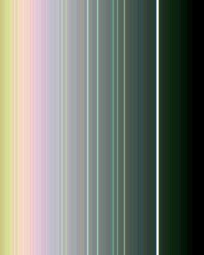 Détail des anneaux d'Uranus en fausse couleur. Photo prise par Voyager 2 le 21 janvier 1986, à 4,1 millions de km de distance. © Nasa, JPL-Caltech