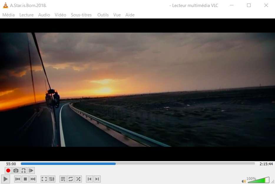 Vous pouvez tranquillement reprendre le visionnage de votre film ! © VideoLAN Organization