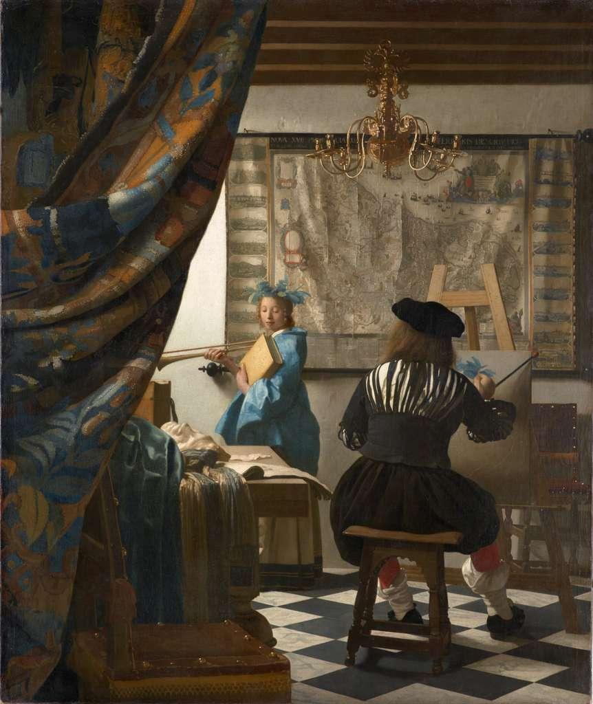 Tableau L'art de la peinture par Johannes Vermeer en 1666-1667. Musée des Beaux-Arts, Vienne, Autriche. © Wikimedia Commons, domaine public