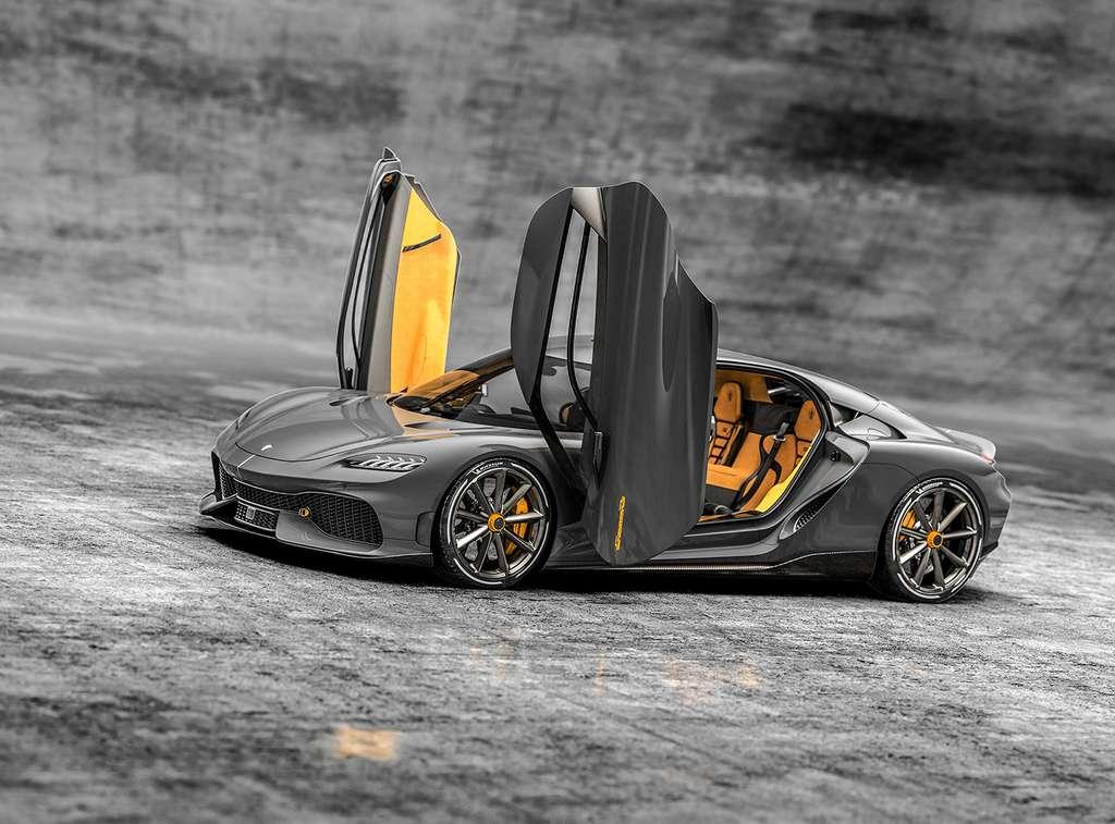 La Gemera utilise des portières à dièdre dont la cinématique est brevetée par Koenigsegg. © Koenigsegg