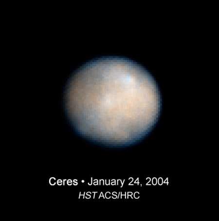 Cérès vu par Hubble