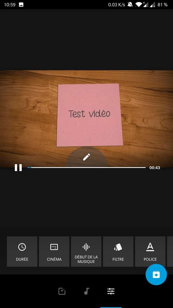 Réglages divers du montage vidéo. © GoPro, Inc.