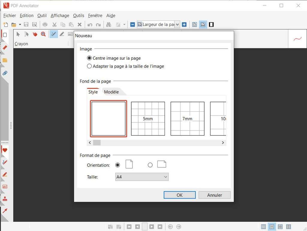 Ouverture d'un nouveau document avec PDF Annotator © GRAHL software design
