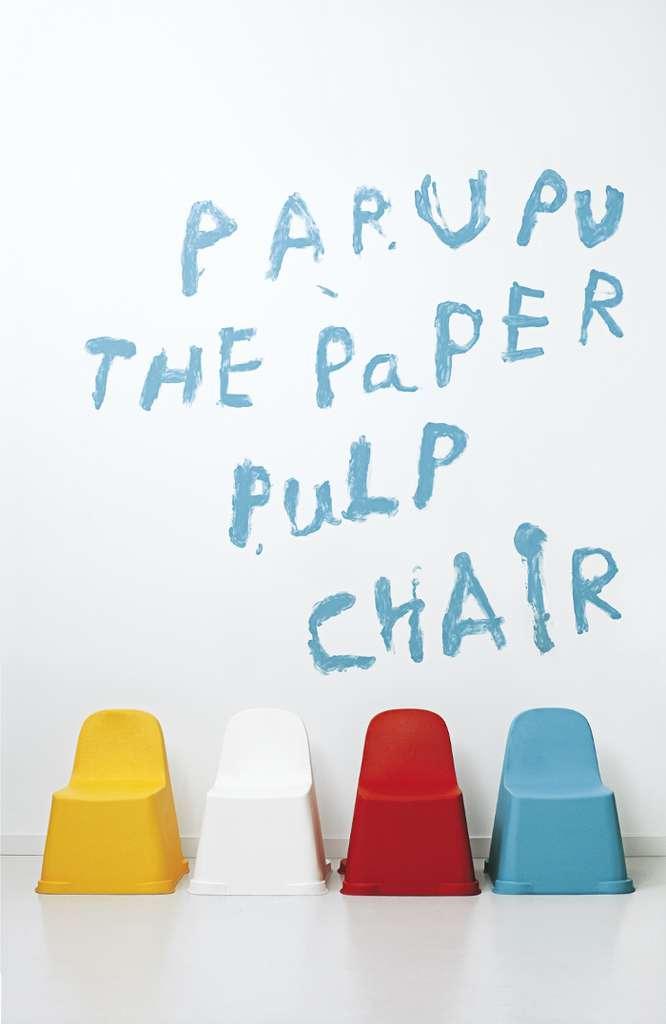 Parapu, un siège en pulpe de papier de PLA (un plastique bio)