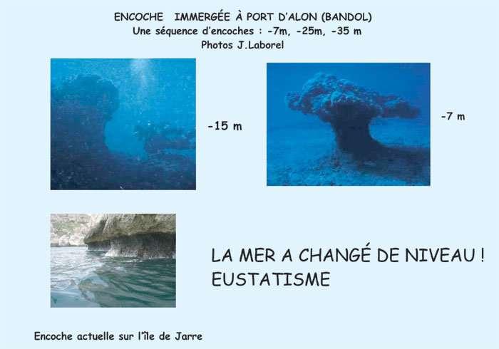 Figure 25. Encoches littorales immergées. © J. Collina-Girard