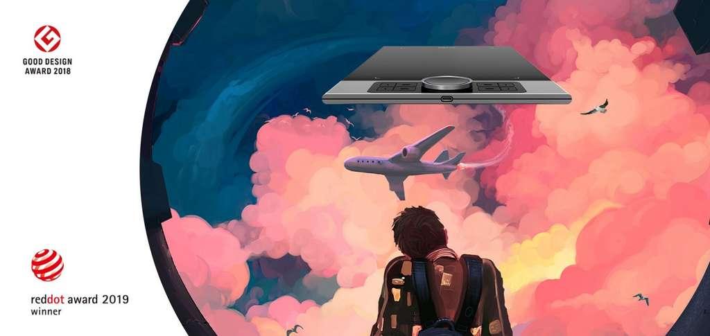 Très performante, la tablette graphique nécessite un peu d'apprentissage puisqu'on ne dessine pas directement à l'écran. © XP-Pen