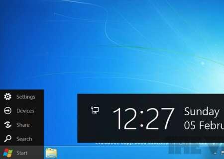 Si le fameux bouton Démarrer disparaît sur Windows 8, son menu, qui s'affiche lorsque l'on place le pointeur de la souris dans le coin inférieur gauche de l'écran, reste. © Capture d'écran PCBeta