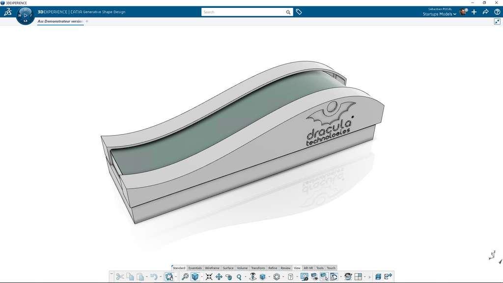 Modélisation du module Dracula Technologies en 3D ©3DEXPERIENCE Lab