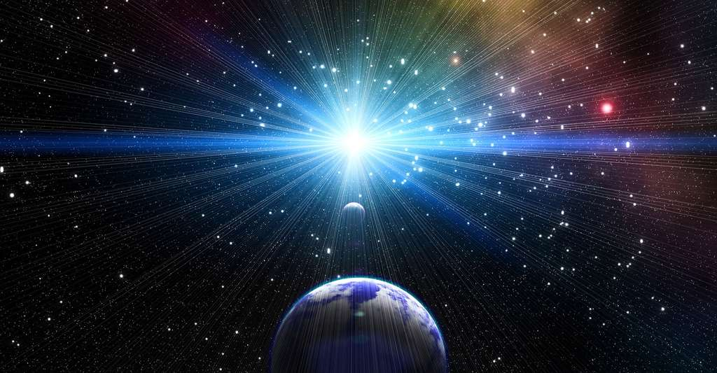 Vue d'un quasar. © Macro-vectors, Shutterstock