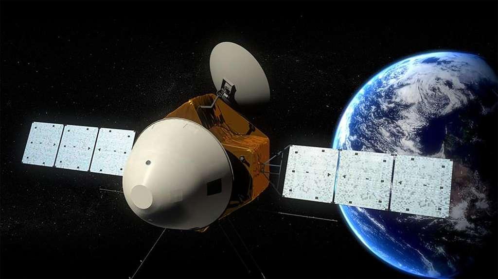 Vue d'artiste de Mars Global Remote Sensing Orbiter and Small Rover (HX-1). Il s'agit de la première mission chinoise à destination de Mars avec un orbiter, un atterrisseur et un rover. © Académie chinoise des sciences
