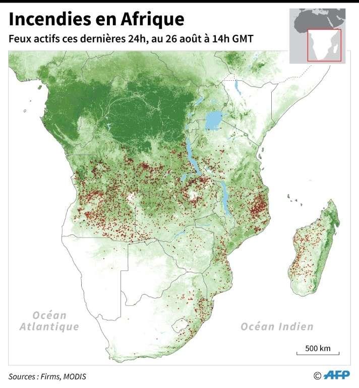 Les incendies en Afrique. © Sabrina Blanchard, AFP