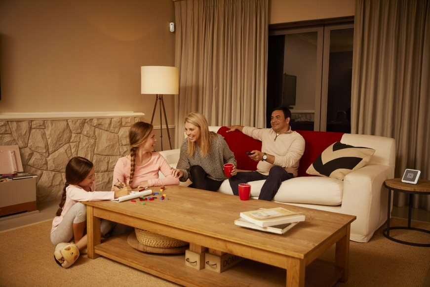 Une alarme de maison peut aussi être activée la nuit. © Verisure