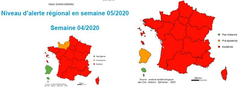 Les consultations pour syndrome grippal enregistrées par le réseau Sentinelles ont bondi de 62 % par rapport à la semaine précédente. © Réseau Sentinelles, Agence publique France