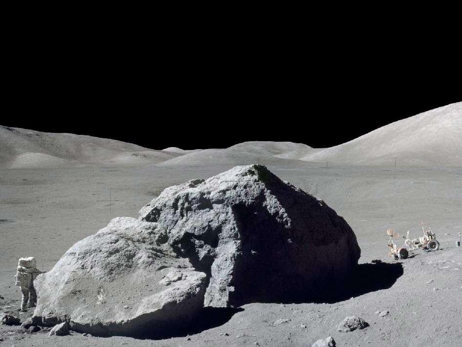 Décembre 1972 : Harrison Schmitt (à l'image) et Eugene Cernan sont les deux derniers astronautes de l'épopée Apollo à quitter la Lune. © Nasa