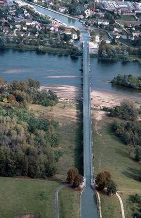 Vue du ciel, le pont canal