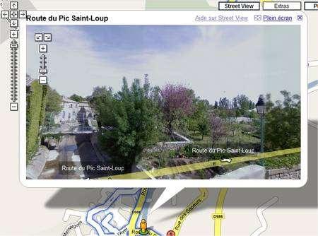 Les grandes villes ne sont pas les seules à avoir reçu la visite des Google Cars, qui continuent toujours à sillonner la France. Ici, Saint-Martin-de-Londres, dans l'Hérault.