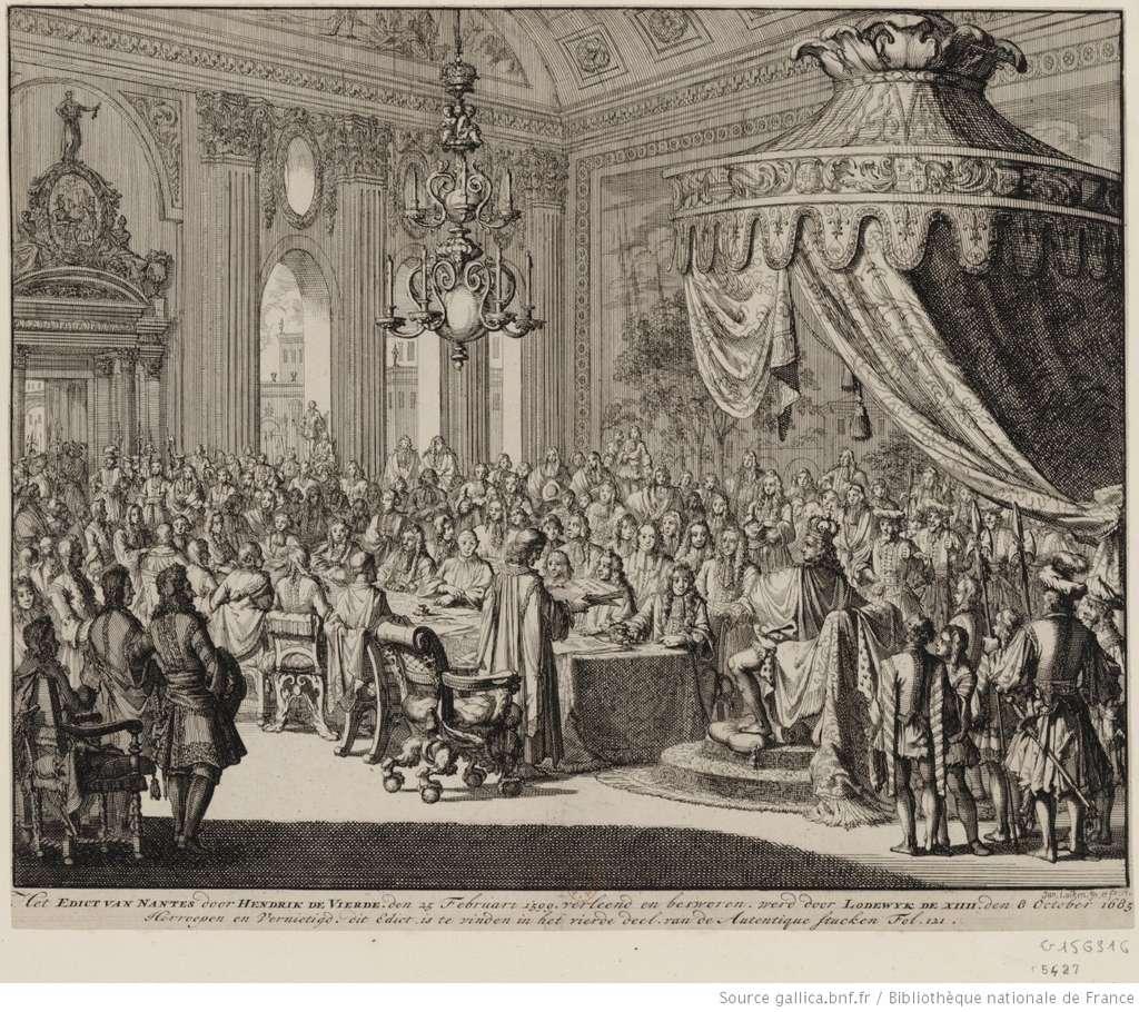 La Révocation de l'édit de Nantes. © Gravure de Jan Luyken (1649-1712), Gallica, BnF, département des Estampes et de la Photographie, DP