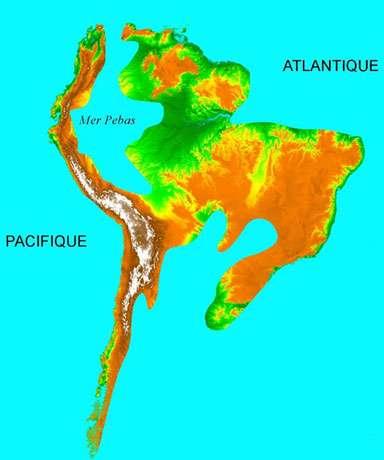 Le continent sud-américain il y a 15 millions d'années