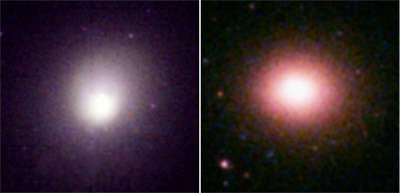 Images des amas de galaxies 2A 0335+096' (à gauche) et Sersic 159-03' (à droite ), prises par le télescope spatial XMM-Newton, qui oeuvre dans les rayons X (Crédits : ESA/XMM-Newton EPIC consortium)