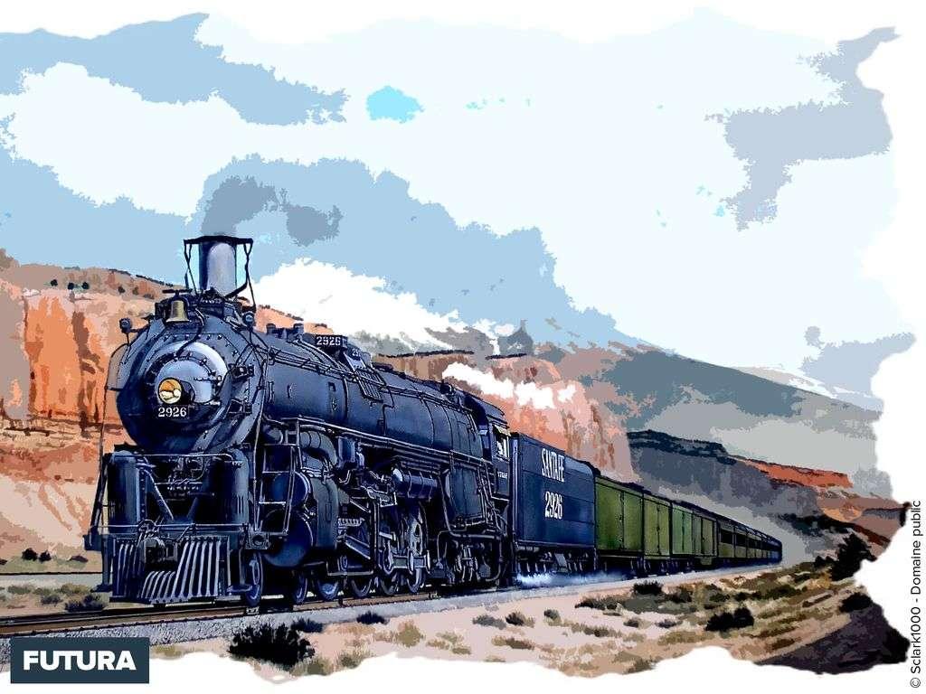 Train AT&SF Norhtern locomotive
