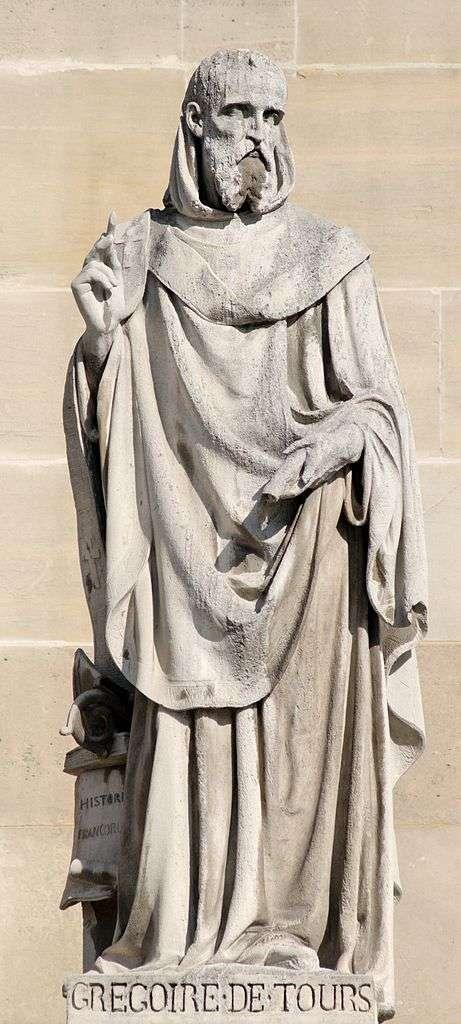 Grégoire de Tours fut évêque et écrivain à la fois. © Jastrow, Wikimedia Commons, cc by 3.0