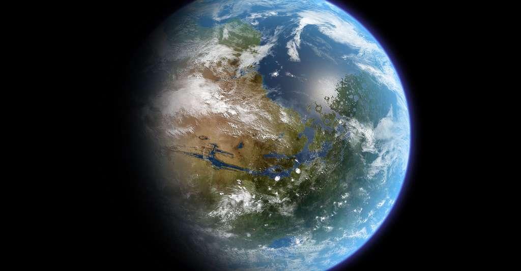 Quelle est l'origine de la vie dans l'univers ? Ici, une image de la planète Mars il y a 4 milliards d'années... © Daein Ballard, CC by-sa 3.0