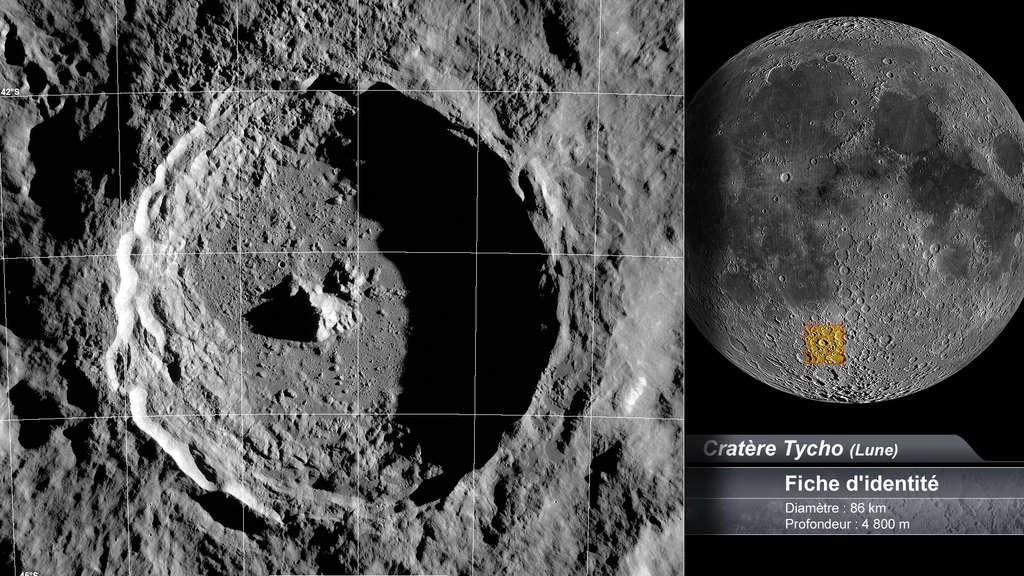 Le cratère Tycho sur la Lune