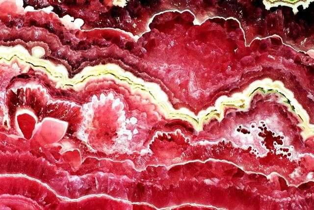 Rhodochrosite de Capillitas issue d'une stalactite