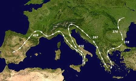 Migrations des Wisigoth
