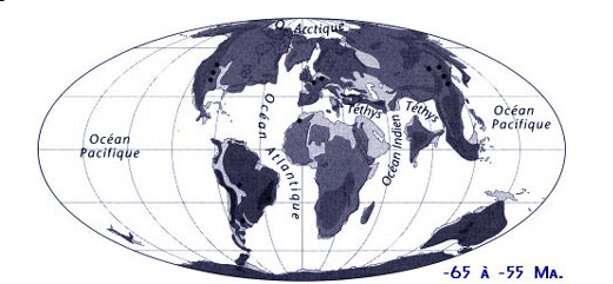 Attention, le cas de l'Inde pose ici problème: selon les paléontologues, elle devait former une bande continentale de Madagascar jusqu'en Asie. © J.-L. Hartenberger
