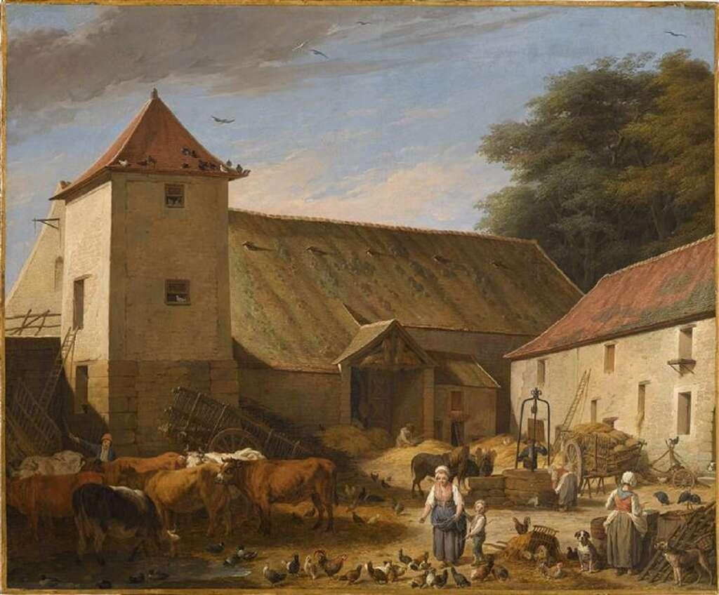 Cour de ferme par Nicolas-Bernard Lépicié, en 1784. Musée du Louvre, Paris. © RMN-Grand Palais (musée du Louvre), Frank Raux.