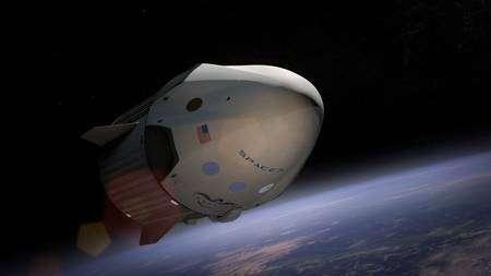 La capsule Dragon V2 de SpaceX fera partie des deux premiers véhicules privés de transport spatial de passagers, avec la capsule CST-100 de Boeing. © SpaceX