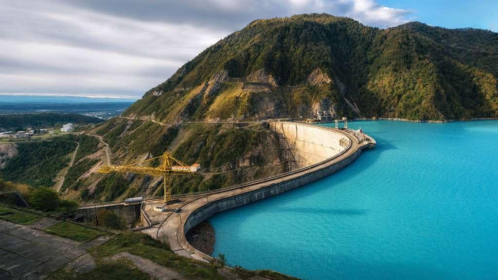 Le barrage Khudoni en Géorgie