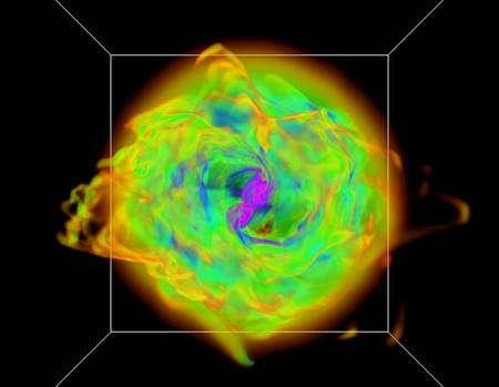 Image 2. Vue polaire du disque d'accrétion. Crédit : Mark Krumholz-Lawrence Livermore National Laboratory