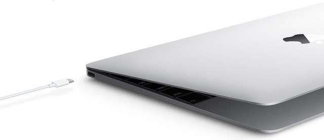 Apple est l'un des premiers constructeurs à avoir adopté l'USB-C pour son tout nouveau MacBook. La firme à la pomme a au passage défrayé la chronique en n'intégrant qu'un seul port USB qui sert à la fois pour la connexion et l'alimentation de l'appareil, ce qui a permis d'affiner encore un peu plus son design. © Apple