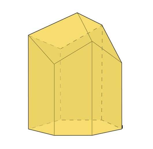 Les alvéoles des abeilles sont des prismes de base hexagonale terminés par trois losanges inclinés, un peu comme un crayon taillé. © Hervé Lehning, Tous droits réservés