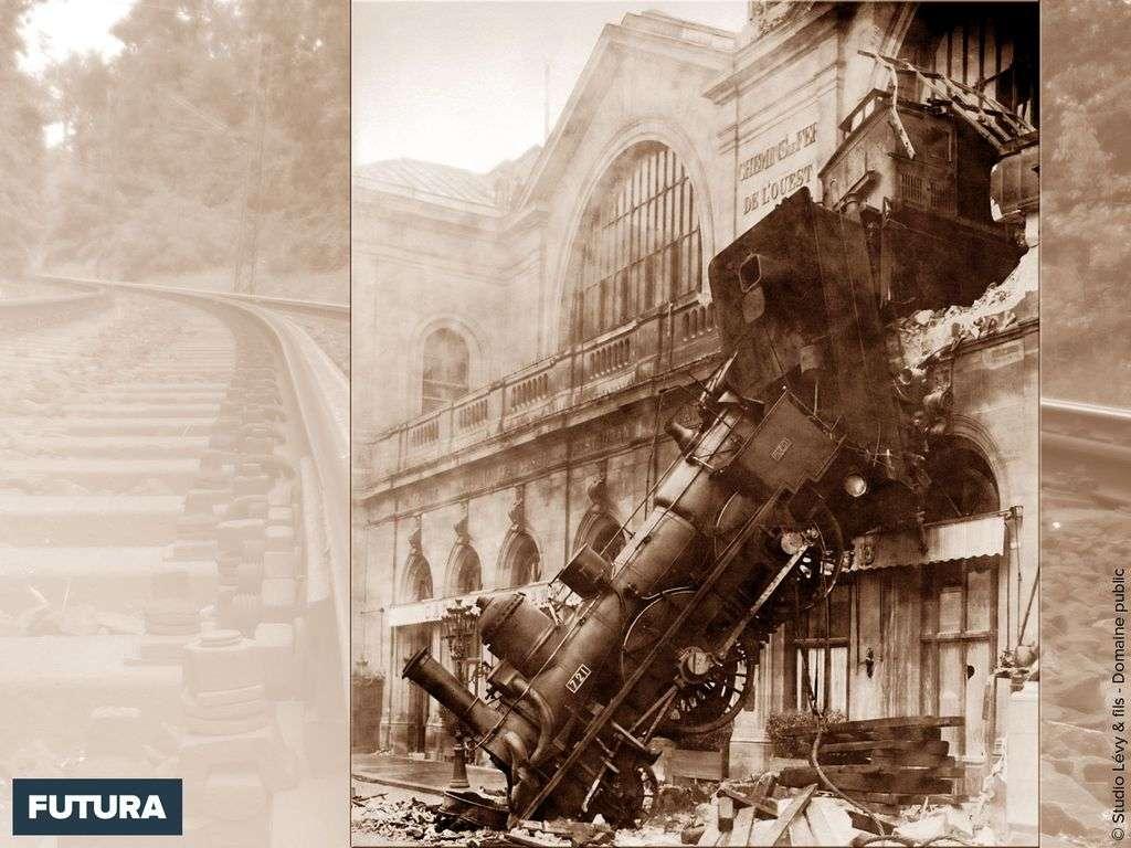 Accident ferroviaire gare Montparnasse Paris 1895