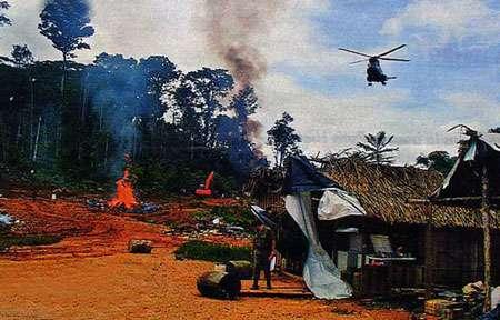 Guyane, un camp illégal d'orpailleurs démantelé par les gendarmes, photo du site de la gendarmerie.