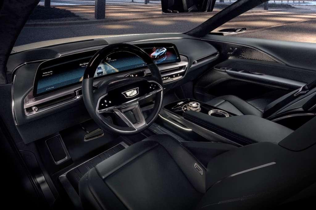 L'habitacle du Cadillac Lyriq et son écran géant. © Cadillac