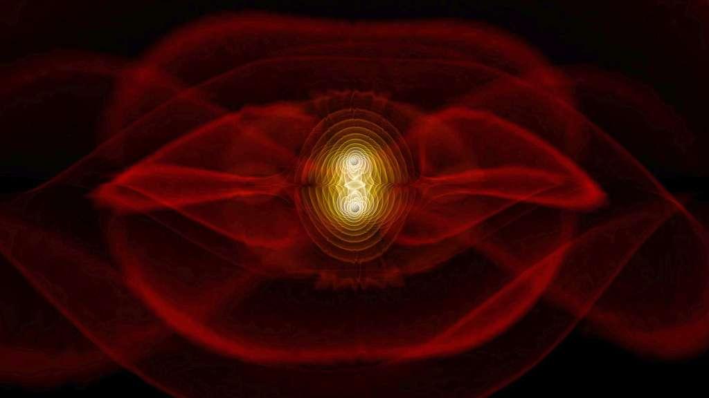 Fusion de deux trous noirs