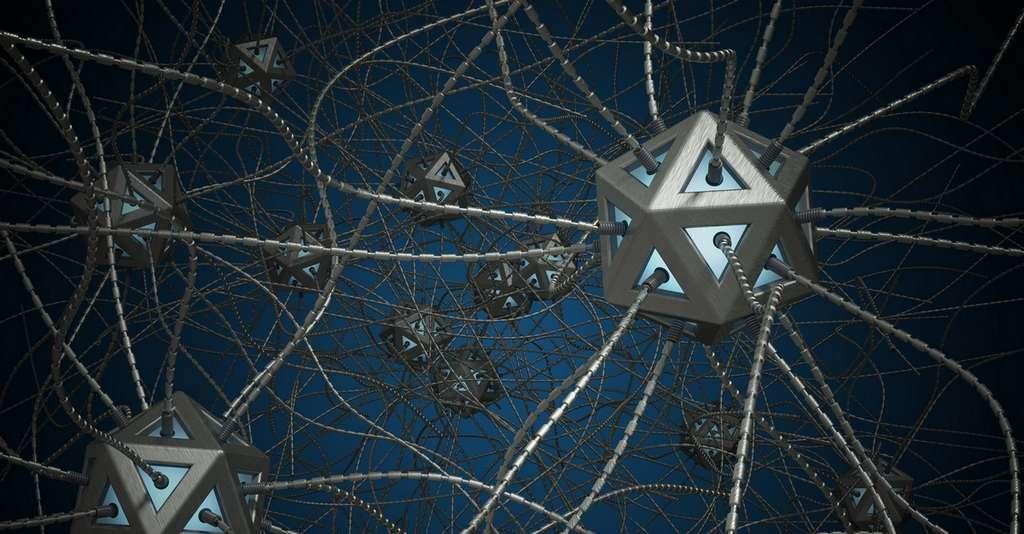 Dans un réseau neuronal convolutif, chaque couche est composée de nœuds qui ont chacun un poids, c'est-à-dire une incidence plus ou moins importante sur le nœud auquel ils vont transmettre des informations. © Vchalup, Fotolia