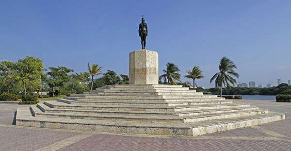 L'indienne caraibe Catalina qui aida à la colonisation de la ville. © Antoine, tous droits réservés