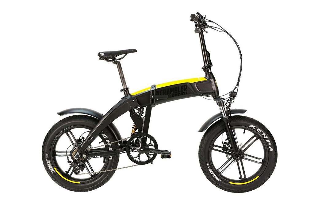 Le Scrambler SCR-E Sport est un tout suspendu, ce qui est plutôt rare pour un vélo électrique pliable. © Ducati