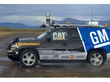 Le 4x4 sans conducteur de General Motors, essai en 2008. © webarnews