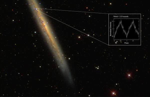 « L'enquête de XMM-Newton sur les étoiles à neutrons nous a montré qu'il y a beaucoup de mystères à explorer dans ce domaine », confie l'astronome de l'ESA Robert Schartel. Ici, un enregistrement du pulsar NGC 5907 X-1. © ESA, XMM-Newton-Nasa, Chandra et SDSS