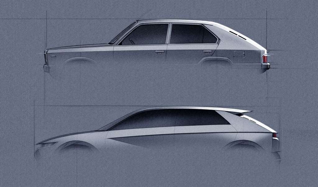 Hyundai a essayé de rester fidèle aux lignes originales de la Pony Coupé. © Hyundai