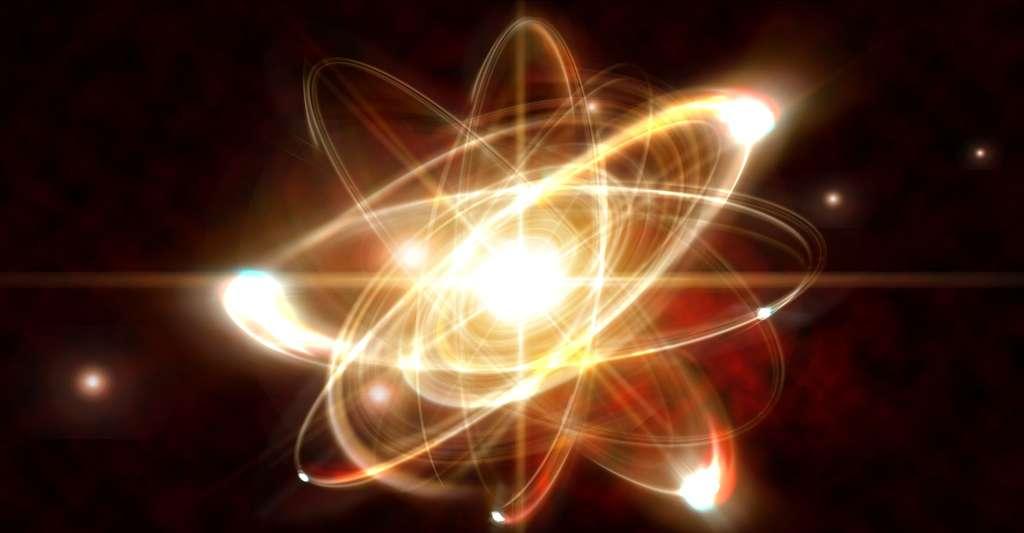 Un gaz est constitué de particules minuscules (atomes ou molécules). Ici, une représentation d'un atome. © Ezumes Images, Shutterstock