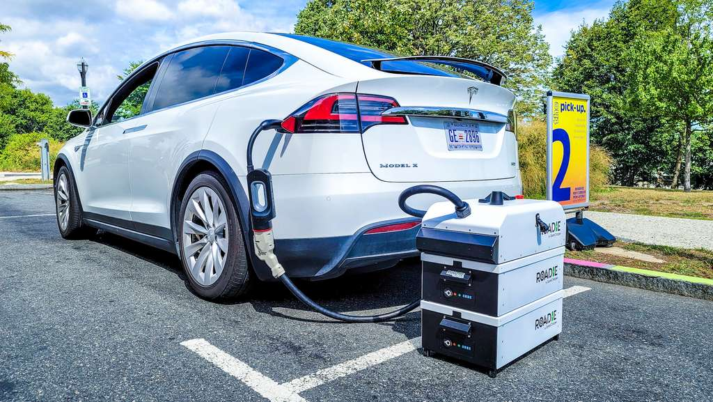Avec l'électricité à la demande, plus besoin de se préoccuper des bornes de recharge sur le trajet. © Sparkcharge