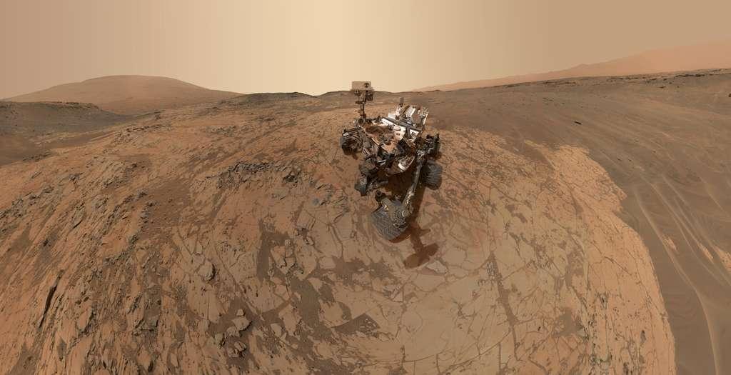 Selfie de Curiosity sur le site de Mojave